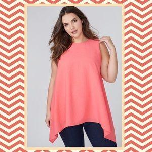 Lane Bryant woven shell zip back Sleeveless blouse